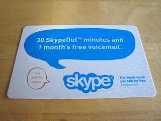Expired Skype Calling Card, front | by rafael.rivera