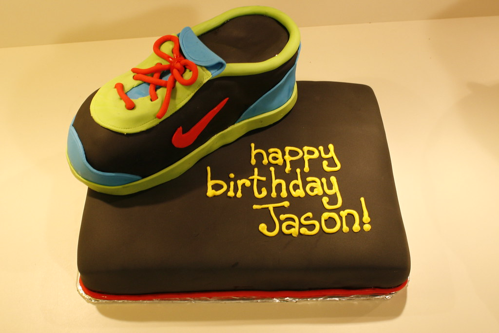 Jasons Sneaker Birthday Cake My boss is a marathon runner Flickr