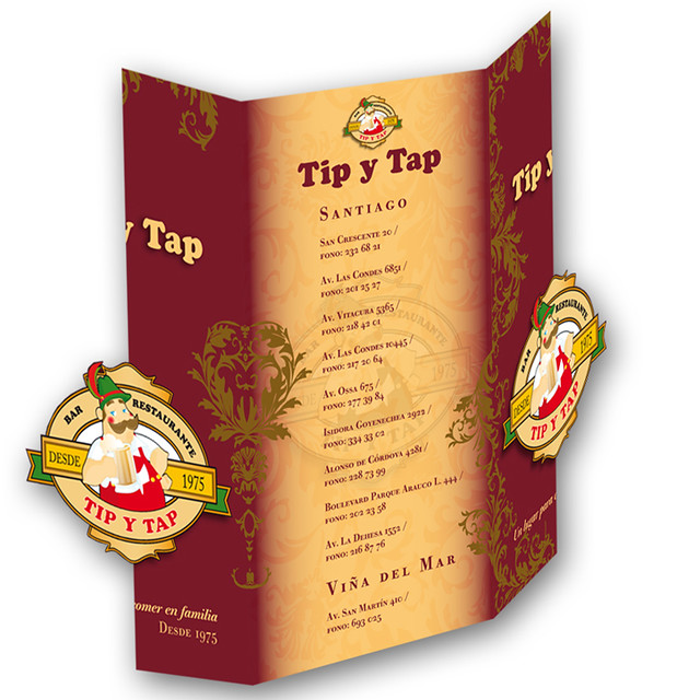 tip tap menu