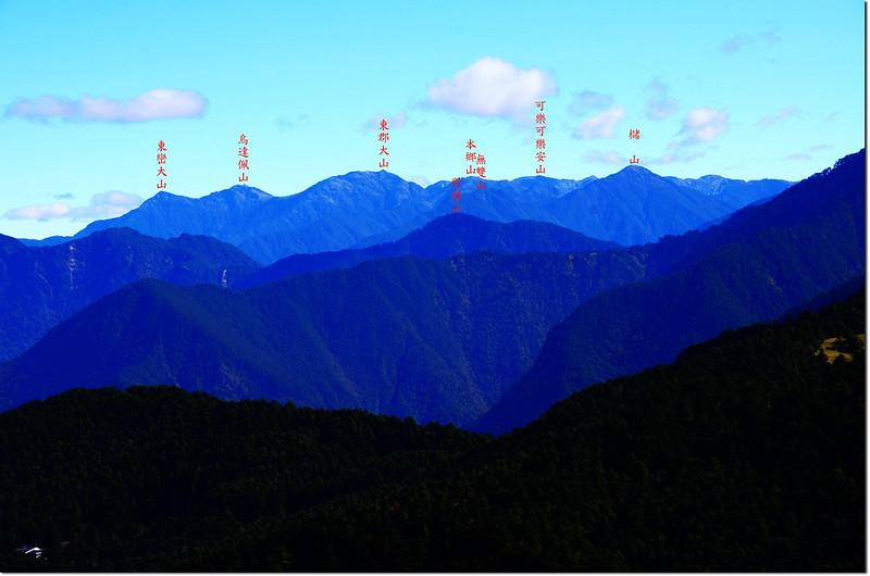 鹿林前山東北眺南三段群山 1-1