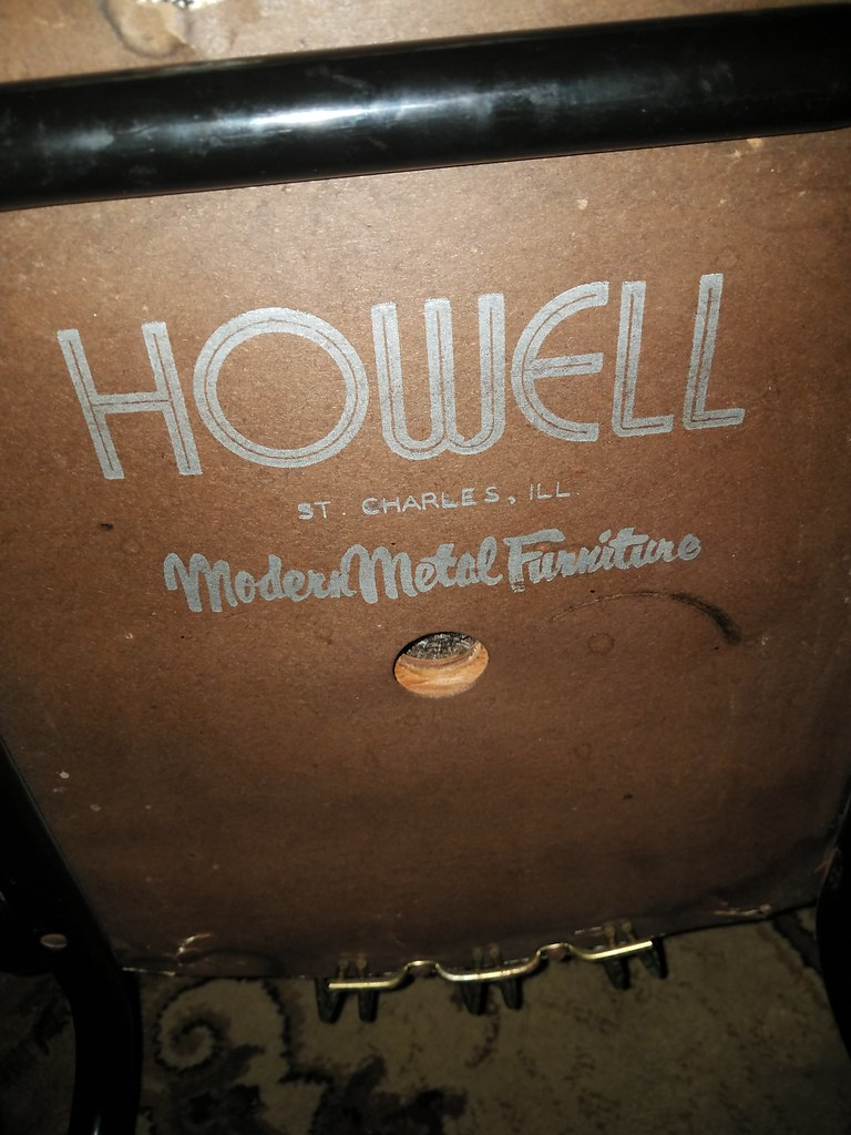 ... Vintage Howell Furniture Logo On The Bottom Of One Of Their Chairs | By  Nicole01812