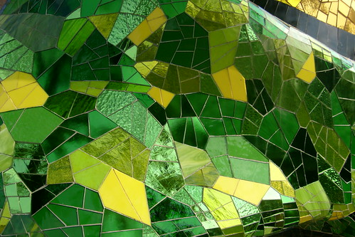 Green Glass Mosaic Tile Kitchen Backsplash