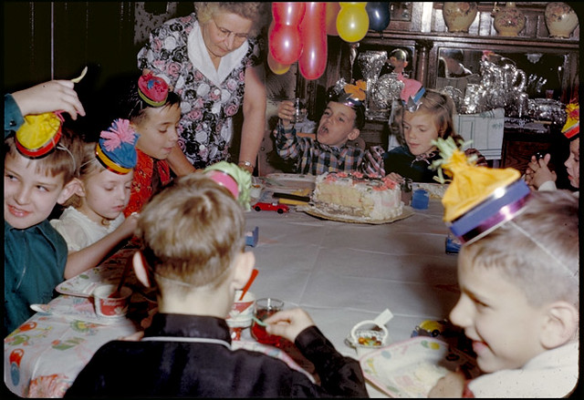 Jack S Birthday Party Early 1950s The Candles Are Off