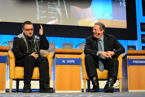 Bono and Al Gore talk about Poverty and Global Warming | by Robert Scoble