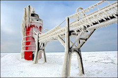 south haven light iced | by Tom Gill.