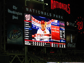 NJ on the HD jumbotron | by randomduck