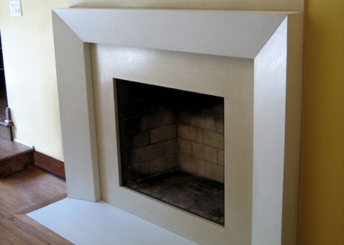Modern Fireplace Surrounds concrete fireplace surrounds | this is a concrete fireplace … | flickr