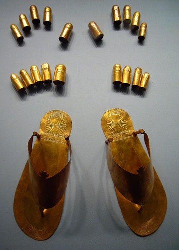 Ancient Egyptian Gold Sandals Toe And Finger Stalls Flickr