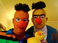 Ernie and Bert (with Rubber Duckie) Halloween 2007 | by chattingjason
