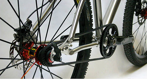 Lynskey titanium singlespeed mountain bike with BELT DRIVE | by Richard Masoner / Cyclelicious