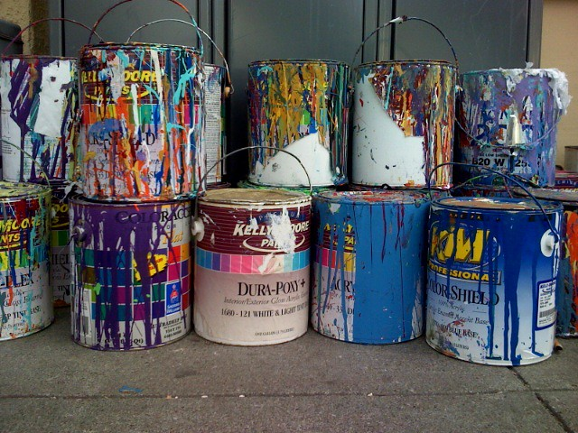 Paint cans ian collins flickr for How to dispose of empty paint cans