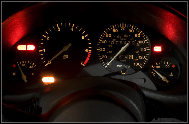 Vauxhall Corsa B Speedometer Here Is A Close Up Photo