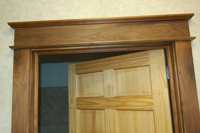 Door trim walnut door trim jambs casing stop milled for Colonial style trim