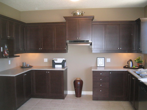 Painting Kitchen Cabinets Espresso Brown