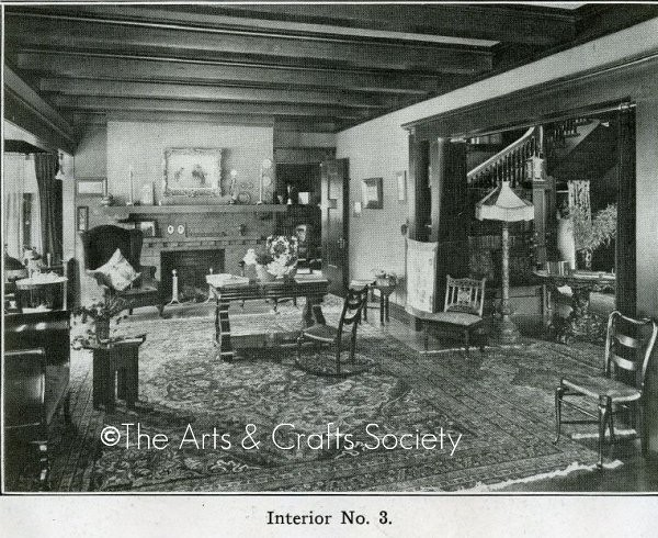 Arts And Crafts Interior Bungalow Living Room 1910