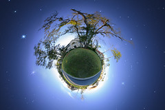 Tiny Planet with Star Field | by fpsurgeon