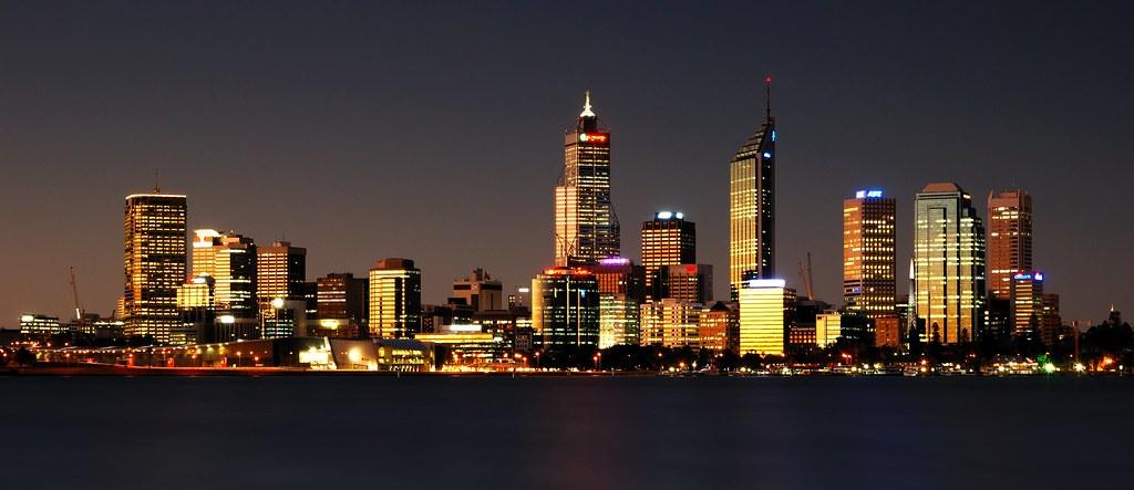 Perth Night Skyline Western Australia 169 Scott