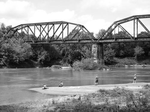 Railroad Bridge Over Colorado River Columbus Texas 04101