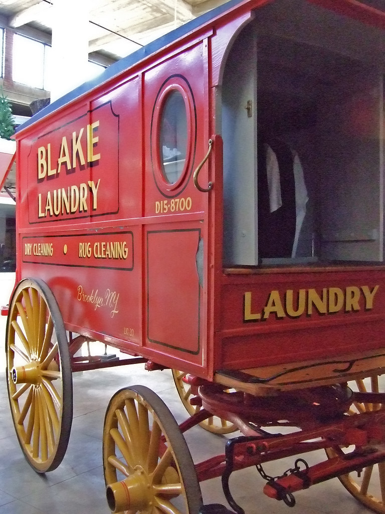 Laundry Wagon Late 1800s United States Photographed At