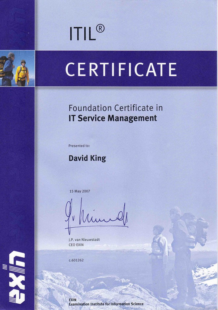 Itil Foundation Certificate In Itsm Exin Itil Foundation Flickr