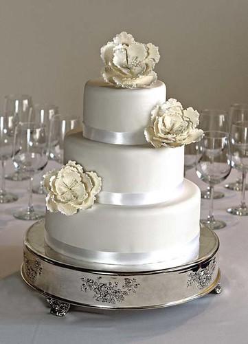 Peony Wedding Cake Sugar Peony On Fondant Richard Festen Flickr - Peony Wedding Cake
