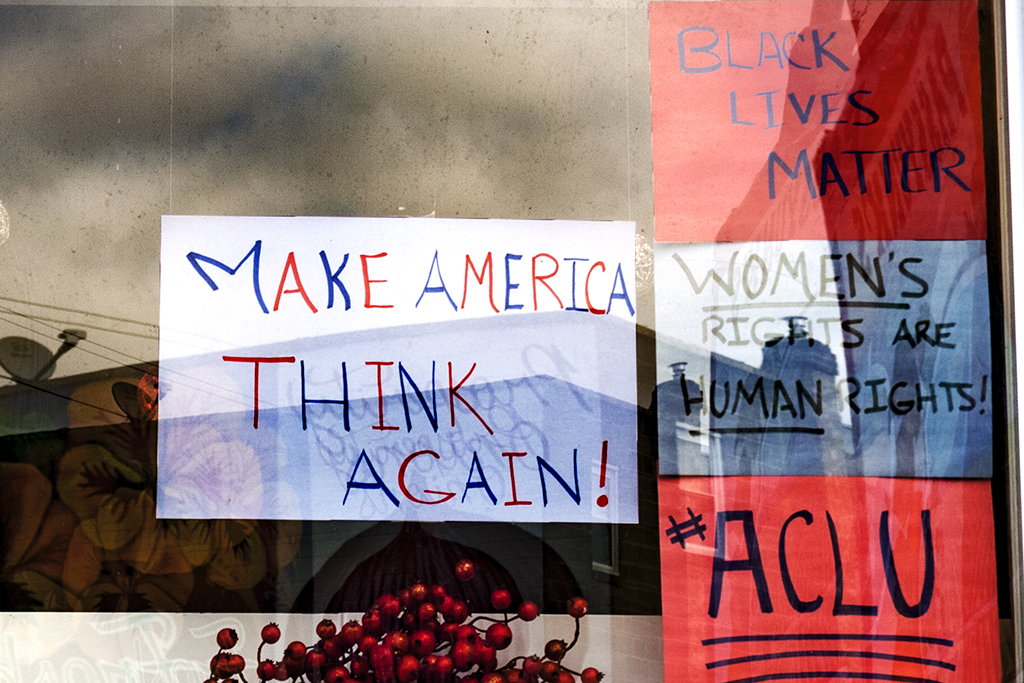 MAKE AMERICA THINK AGAIN--Passyunk Square (detail)