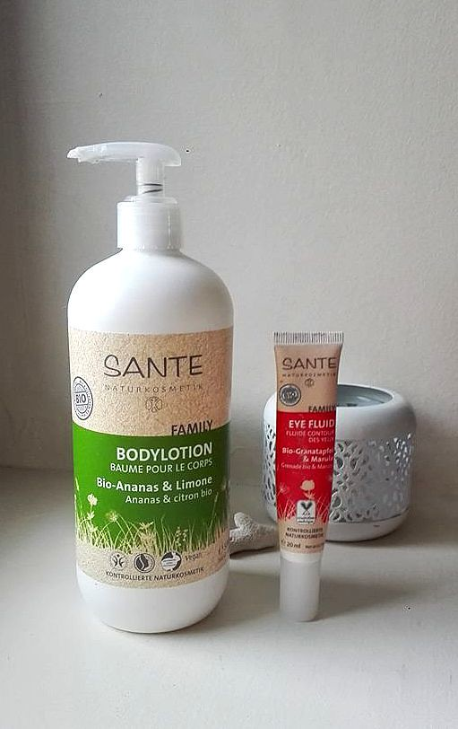 sante bodylotion eye fluid skincare