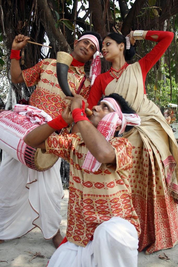 Bihu Dance Under A Tree In Nagaon,Assam,India  A Bihu -2968