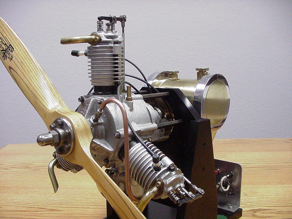 Entzuckend ... Anzani 3 Cylinder Radial Aircraft Engine, 1/4 Scale Model Designed By  Les Chenery