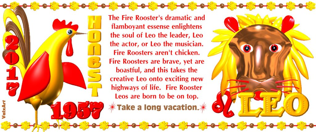 valxart 1957 2017 fire rooster chinese zodiac people born