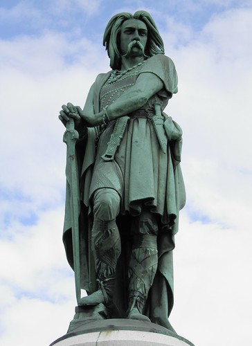 The colossal statue of Vercingetorix, Alesia | by Following Hadrian