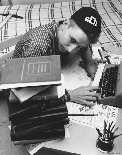 Studying Dink, 1957 | by Duke University Archives