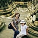 Mother, daugther & borobudur