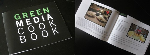 thanks to librarian debbie benrubi, the cook book that green media students made and sophia miles designed is now part of gleeson library's permanent collection | by davidsilver