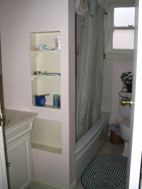 bathroom with built in shelves mraceebb flickr
