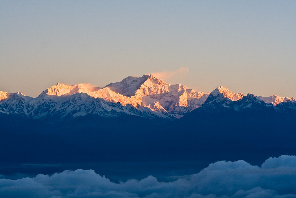 Kangchenjunga Indian Himalaya Morning On The Roof Of