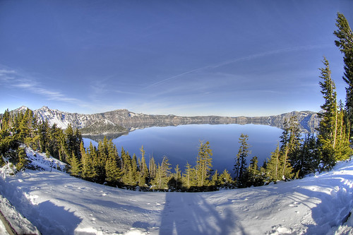 Crater Lake Fisheye HDR | by ArtBrom