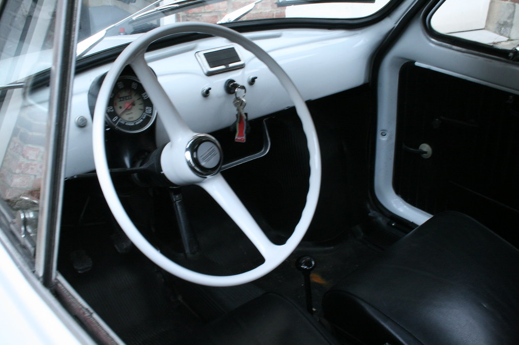 Fiat 500 Interior Original Wheel Now Fitted And So Much