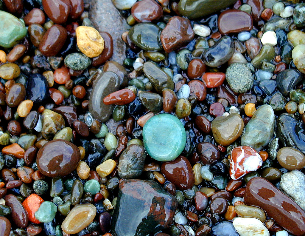 Cambria Beach Stones When The Wave Went Out I Ran With