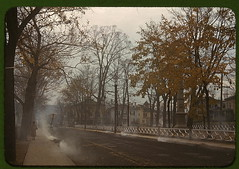Burning the autumn leaves in Norwich, Connecticut  (LOC) | by The Library of Congress