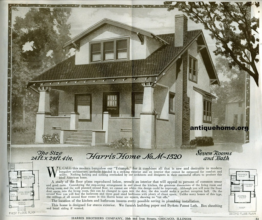 Three Brothers Bungalows: 1920 Kit Home From Harris Brothers