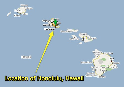 Location Of Honolulu Hawaii  Uploaded With Plasq39s