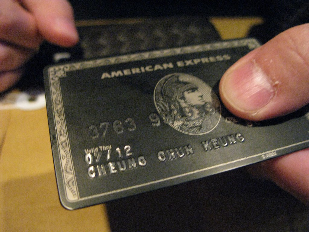 AMEX Black Card | The card is too heavy for my wallet... :))… | Flickr
