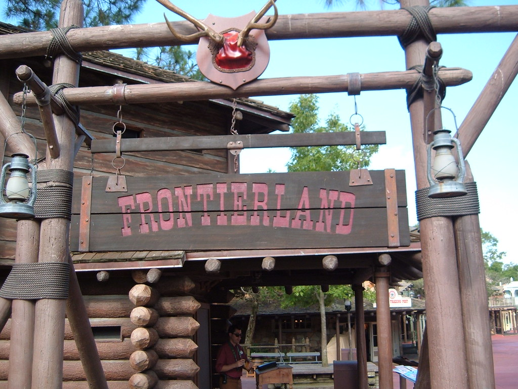 Frontierland Sign Magic Kingdom Walt Disney World | Michael Gray ...
