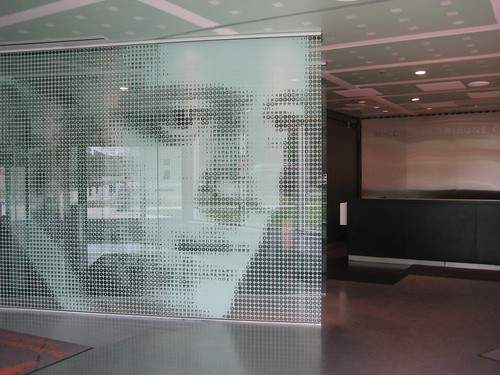 Mies from glass graphics passersby flickr for Window design graphics
