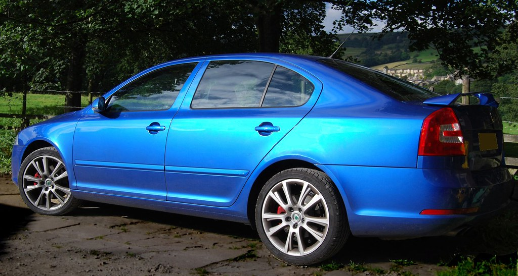 Skoda Race Blue Skoda Octavia Vrs Lurking In A Woodland