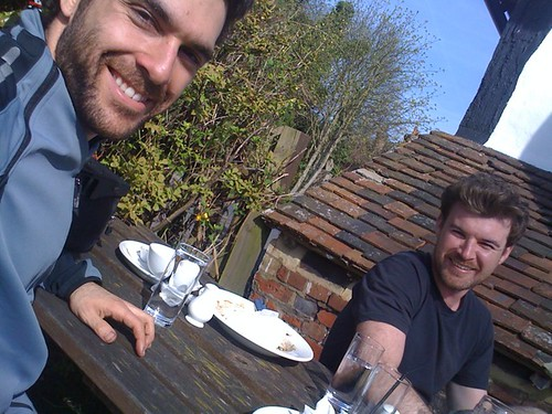Lunch at a country pub...halfway to Dover on a cycle & camping weekend! | by iwillseetheworld
