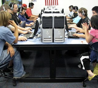 LAN table in the Teen Tech Lab | by circulating