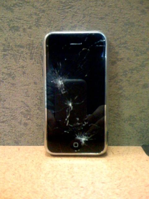 Iphone S Broken Lcd Screen