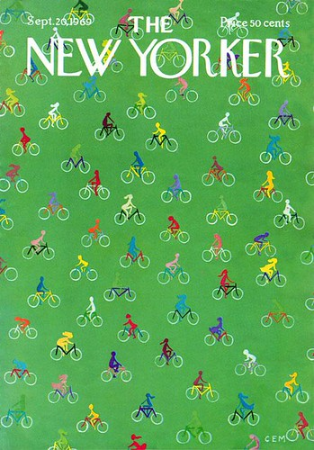 Bicycling cover, New Yorker